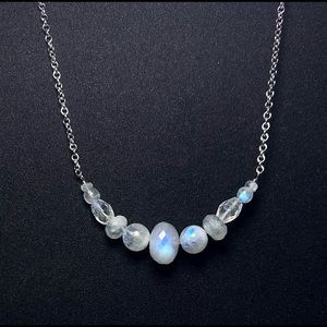 NEW! Genuine Sri Lanka Moonstone Necklace!